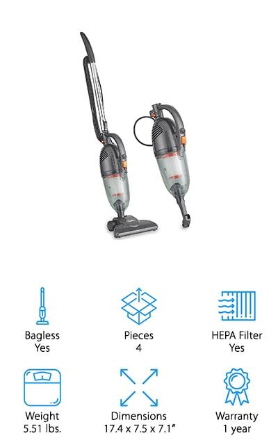VonHaus Gray Stick Vacuum
