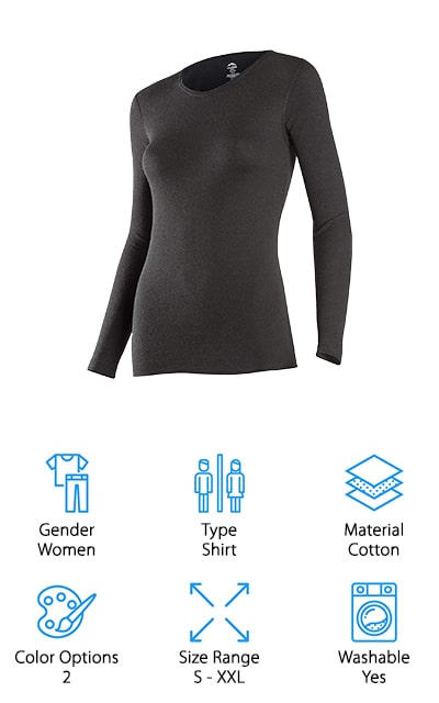These are actually women's, not men's hiking underwear, but they're going to provide you with the high quality that you need. They're black in color but available in several different sizes to make sure you get the ideal fit. This base layer is great for any outdoor activities that you want to engage in and has a tagless design that's more comfortable. The yoga style waistband is higher than a standard pair of leggings but provides you with a better fit and better staying power as well. These leggings are designed to give you free movement and moisture wicking to keep you more comfortable. They also dry quickly and help to minimize odor as well as bacteria that can cause odor without proper care.