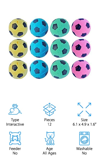 Pet Favorites Foam Soccer Balls