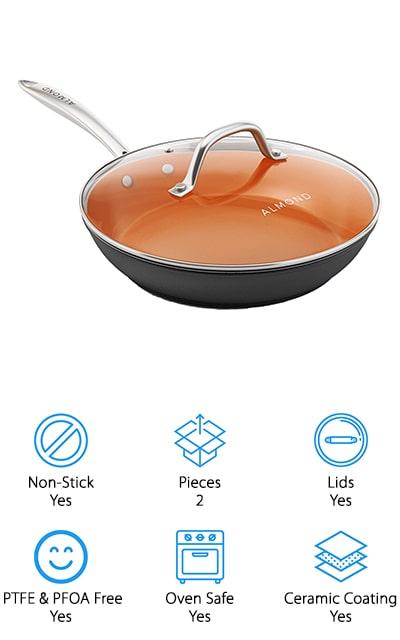 Almond Copper Frying Pan