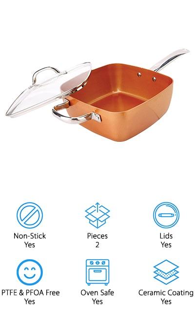 Square Pan Set Copper Pan