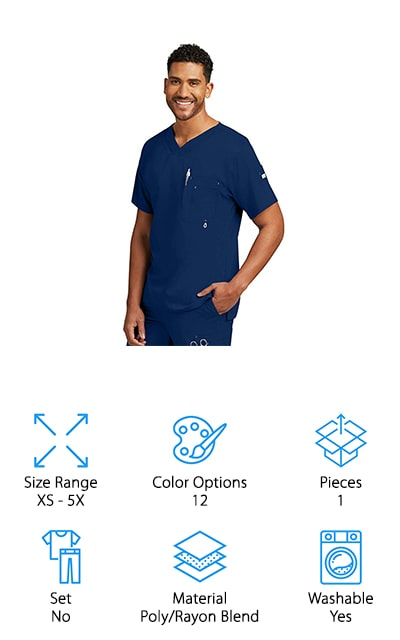 Grey's Anatomy V-Neck Scrub Top