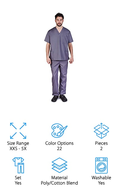 M&M Scrubs Set
