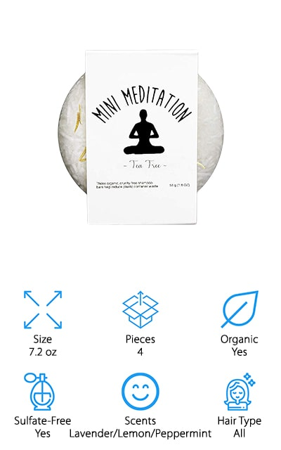 Mini Meditation Shampoo Bars