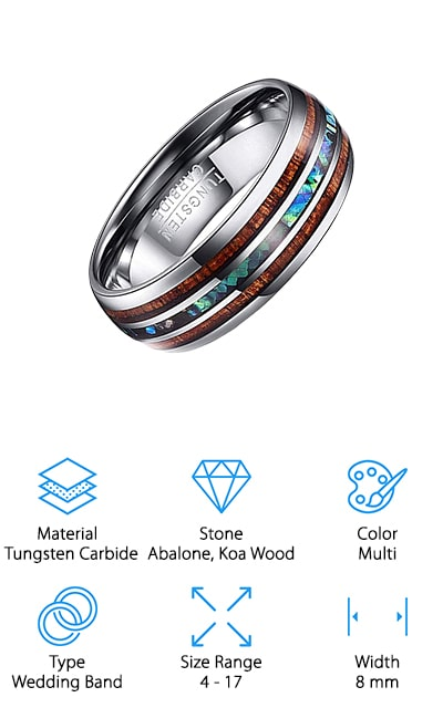 Vakki Tungsten Carbide Ring