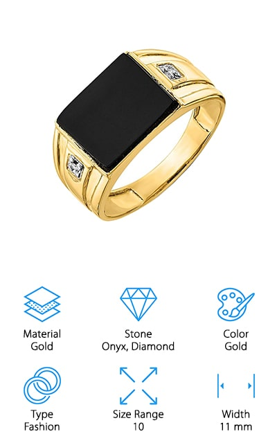 ICE CARATS Black Onyx Ring