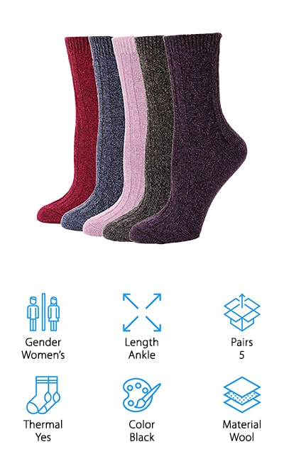 EBMORE Boot Winter Socks