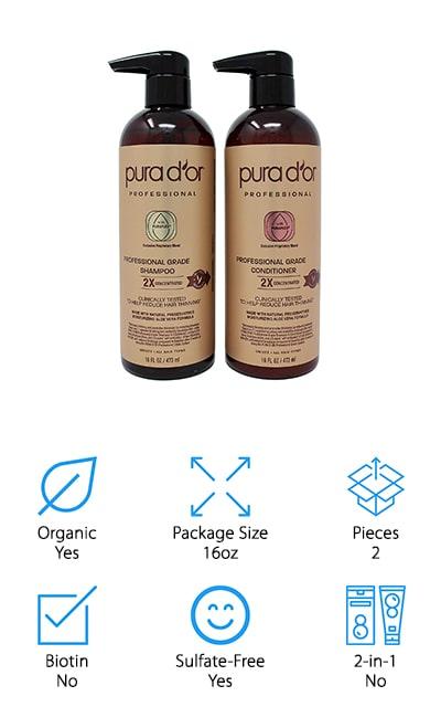 PURA D'OR Professional Grade Shampoo