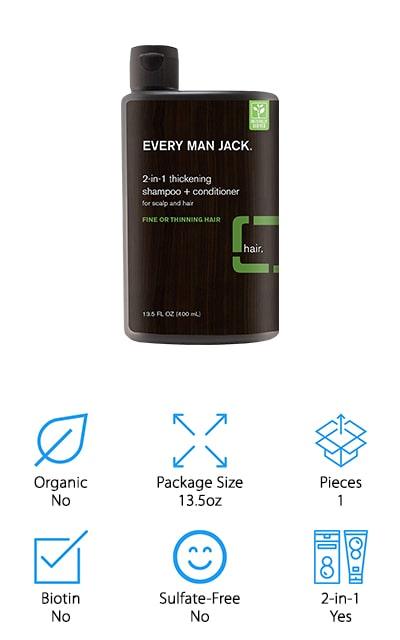 Every Man Jack Thickening Shampoo