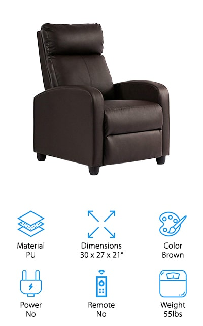 BestMassage Wingback Recliner