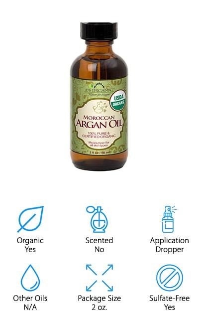 US Organic Moroccan Argan Oil