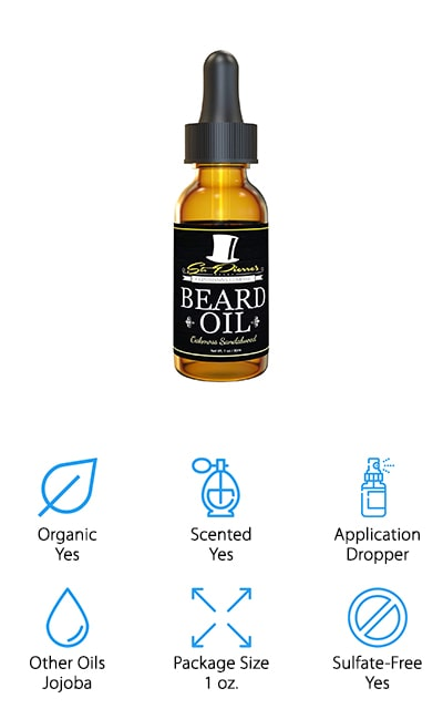 With this beard oil, you'll get a mix of the argan oil with jojoba oil, apricot kernel oil, and oakmoss sandalwood oil so you know you're getting a lot of quality ingredients and you're getting a great scent. The dark bottle is designed to keep the oil as potent as possible for as long as possible and since it's small you'll be able to use it before the potency fades. Not only that but it comes in a dropper bottle that makes it simple to use in the quantities that you want. This oil helps to improve the quality of your beard as well as taming unruly hairs, making your beard smooth and shiny and even improving the hydration of the skin under and around your beard.