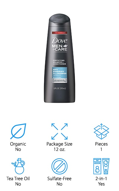 Dove Men+Care 2 in 1 Shampoo