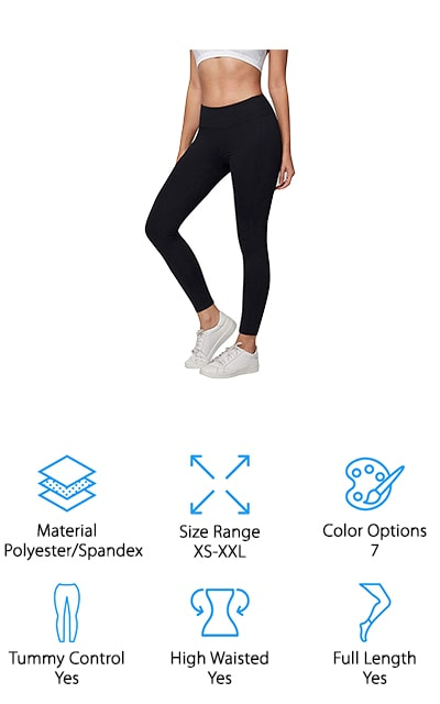 Another great option for moms is this pair of durable and comfortable workout leggings from AJISAI! These come in capris and full-length options, so you can find the right workout leggings for whatever workout or weather you enjoy most! The high waist and extra firm tummy control help keep these leggings in place, even while doing high impact workouts like jumps, squats, and running. To keep you cool and dry, these leggings have moisture-wicking fabric that dries quickly while you get your sweat on! They also have 4-way stretch, so you can feel comfortable tackling your favorite yoga poses or post-workout stretches without worrying about them being see-through or shifting around. There is also an antimicrobial treatment on the fabric to prevent bacteria and odors from ruining your leggings – even if you work out in them a lot! The 7 color and length options are great for mixing things up, or stock up on a bunch of your favorite colors!