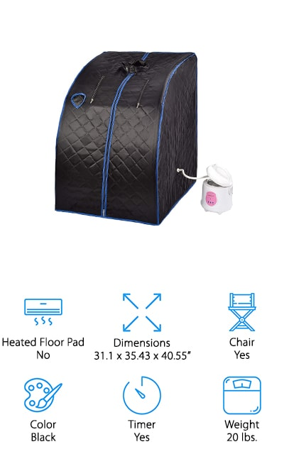 KUPPET Portable Steam Sauna