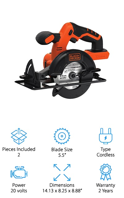 BLACK+DECKER BDCCS20B Circular Saw