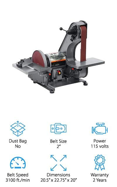 JET J-41002 Bench Belt Sander