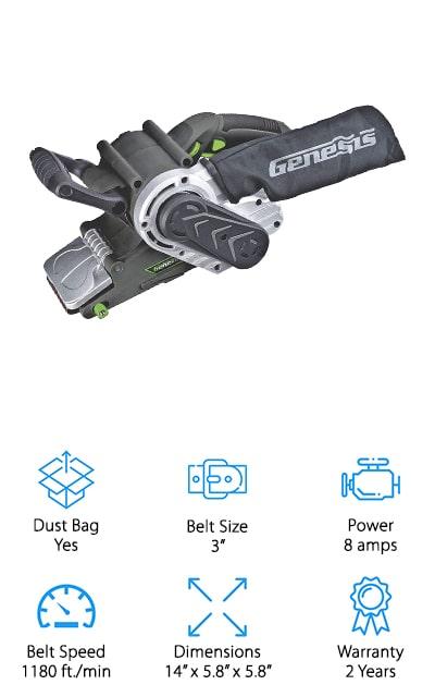 Genesis GBS321A Belt Sander