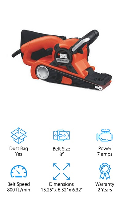 BLACK + DECKER Dragster Belt Sander