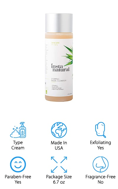 InstaNatural Facial Cleanser