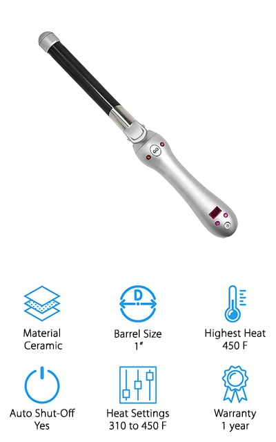 Maybe you thought you that an automatic curling iron for short hair was something you'd never find but, don't worry, we found it for you. The Beachwaver Pro Curling Iron has a small, 1-inch barrel that's perfect for shorter hair. Because the automatic styling rotates in both directions, you can really create some tousled, wavy styles. It heats up to between 310 and 450 degrees in only 30 seconds. You can choose any temperature in that range to get the right amount of heat for your hair texture. The ergonomic handle is easy to manipulate and comfortable to hold on to and the 360 swivel cord and rubberized cool safety stand make this a really convenient styling tool. Plus, it's automatic which makes it the most convenient styling tool of all.