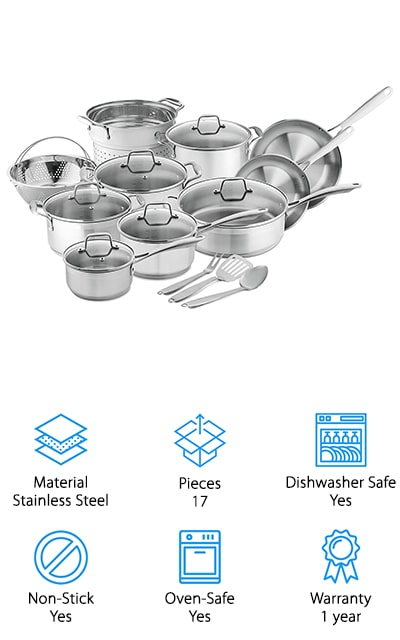 Chef's Star Cookware Set