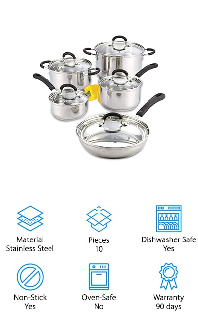 Cook N Home Cookware Set
