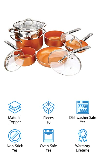 Copper Induction Cookware Set