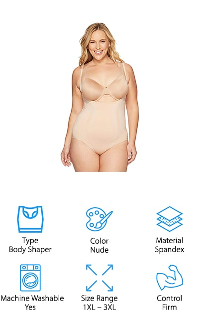 SPANX Open-Bust Panty Bodysuit
