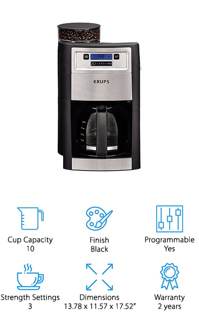 KRUPS Grind & Brew Coffee Maker