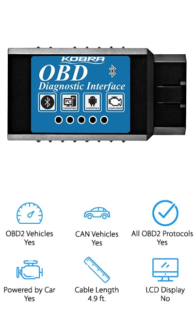 Here you'll find a high-quality scanner to let you know what's going on with your vehicle at all times. It works well with Android and Windows devices so you can get a full reading while you're still out and about. Connecting through Bluetooth, this system works on all vehicles that were built after 1996, which means you can use it with several different vehicles. You'll also be able to check manufacturer specific codes and standard, generic codes, so you're always prepared for what's happening. If there's ever a problem with your vehicle you can even clear codes and lights when you know what's going on. What's even better is the purchase itself is completely risk-free. You get a full year money back guarantee, so if you decide that it doesn't work for you, you can get your money back right away.