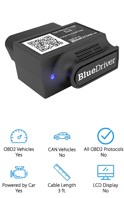 This is one of the best rated OBD2 scanner options available and provides you with a connection to any iOS or Android device. You'll be able to connect to one of a range of different apps and then you can easily get readings and codes delivered directly to your device. Licensed and certified for both these types of devices, it has a Bluetooth system that allows it to connect and makes sure that it's portable and transferable. You'll get vehicle-specific reports if there's anything wrong with your vehicle, so you can make adjustments or work on repairs for yourself. If you're looking for a device that works with all OBD2 vehicles, or vehicles built after 1996, you're in the right place. This system is designed to really get you back on the road again and make sure you know what you're doing while you get there.