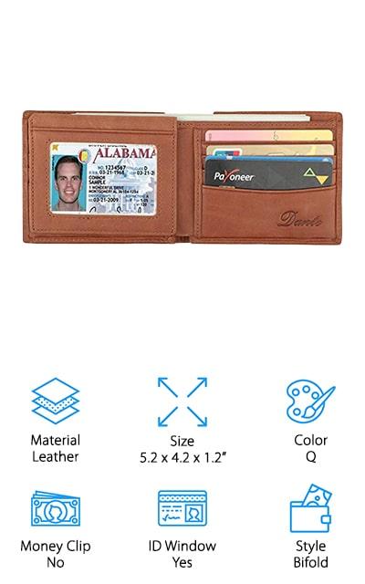 Dante Leather Bifold Wallet