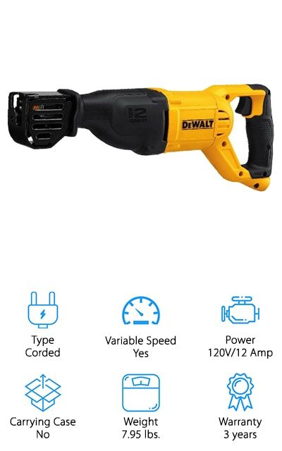 DEWALT DWE305 Reciprocating Saw