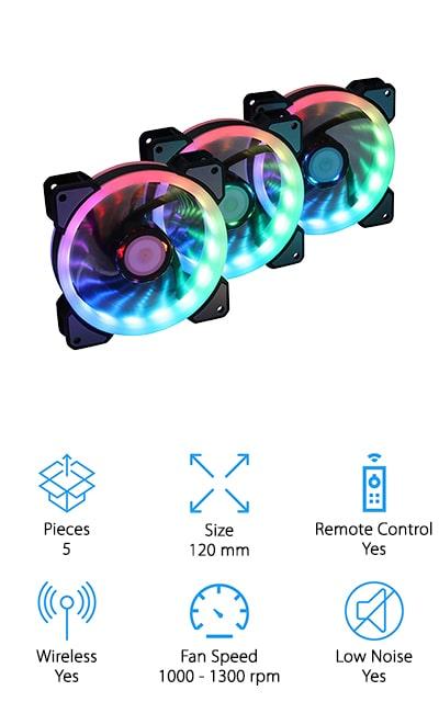 LEDdess RGB Case Fan