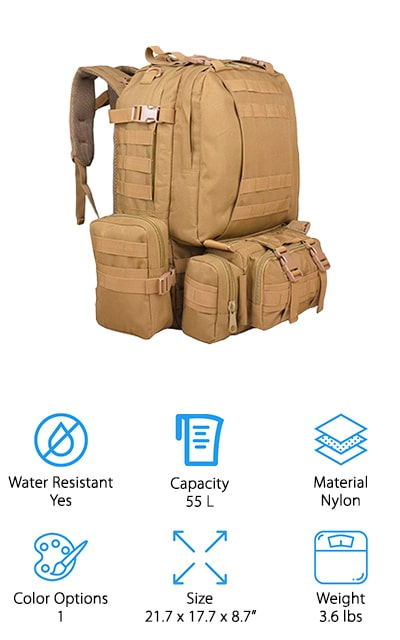 TTLIFE Military Backpack