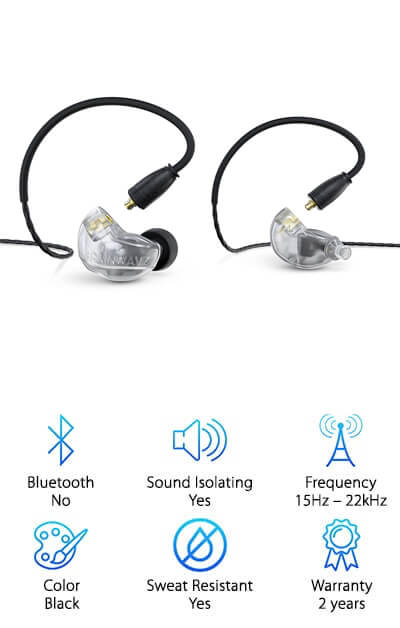 If you're looking for simplicity along with functionality the Brainwavz Professional Monitor Earphones are a good choice. They come in three different colors to fit your personal preference and style and also have high quality technology. In fact, the balanced armature technology means that they reproduce sound very well, and do so in a well-rounded form. You'll get the bass, the vocals and more, whether you're listening to your favorite songs or creating your next big hit. Even better, the ergonomic design and memory formed cables mean they fit just right, all the time. The braided cable increases overall durability and there are several different sizes and types of tips included to get just the right fit. The case makes them simple to carry and the 3.5 mm jack means they can be connected to just about any device, including Apple and Android options. If you really want to keep them secure you can even use the included shirt clip and Velcro cable tie.