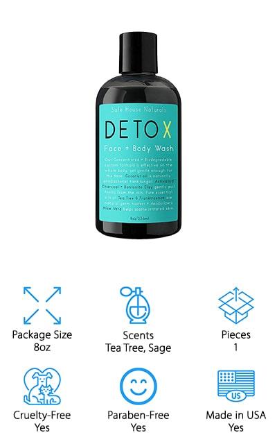 Safe House Naturals Detox Body Wash