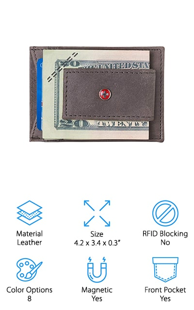Alpine Swiss Money Clip Wallet