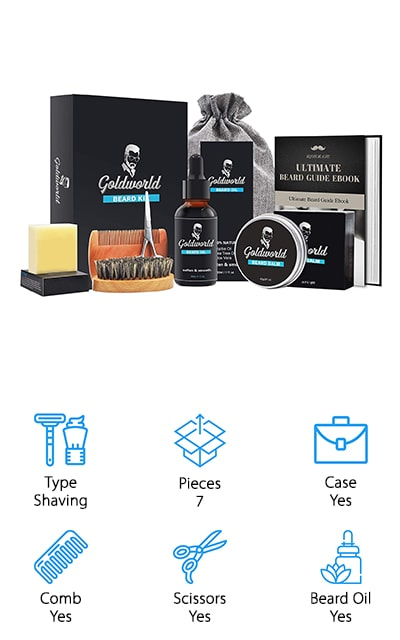 GoldWorld Beard Grooming Kit