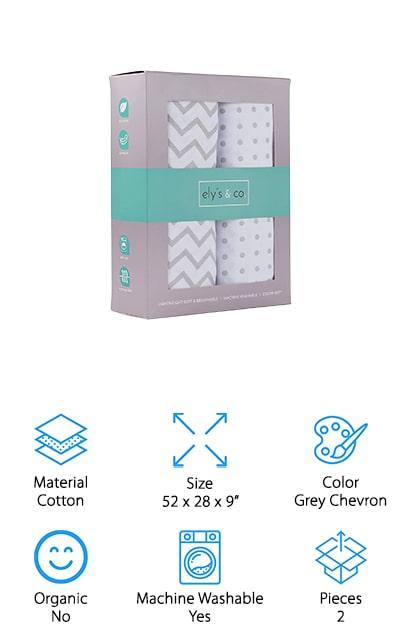 Ely's & Co. Crib Sheet Set