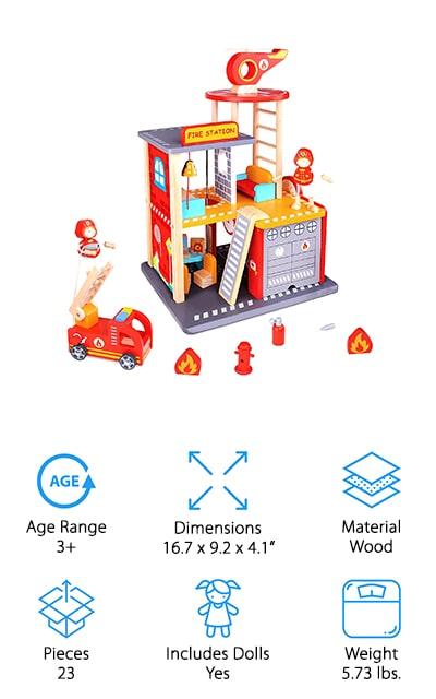 USA Toyz Firehouse Playset