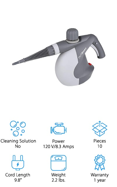 PurSteam Pressurized Steam Cleaner