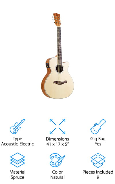 Vangoa Cutaway Travel Guitar