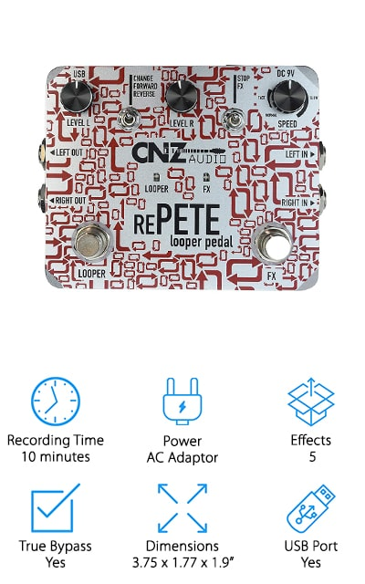 CNZ Audio Re-Pete Stereo Looper