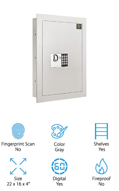 Paragon Electronic Wall Safe