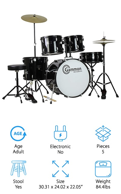 Gammon Percussion Drum Set