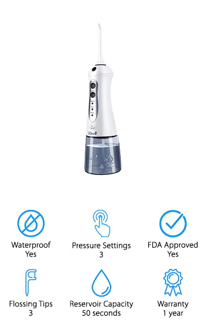 QQcute Cordless Water Flosser