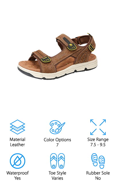 CAMEL CROWN Leather Sandals