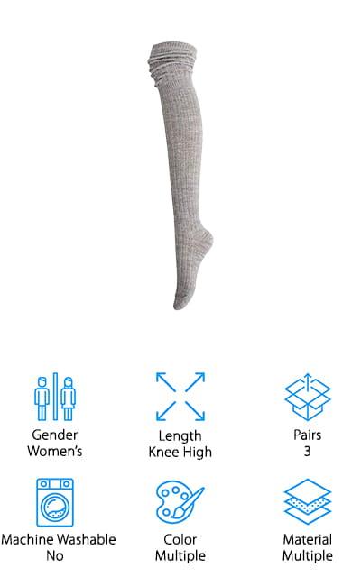 STYLEGAGA Slouch Top Boot Socks